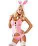 Obsessive sexy bunny pink costume