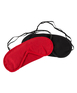 Cottelli Collection Black & Red Eye Mask Set