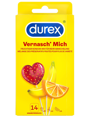 Durex Fruity Mix (14 gab.)