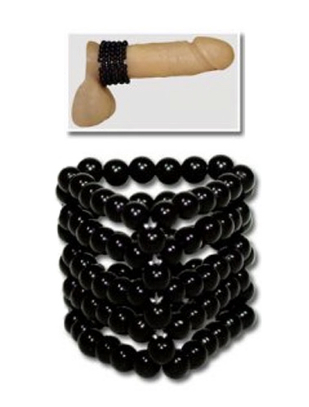 You2Toys Black Beads Cock Ring