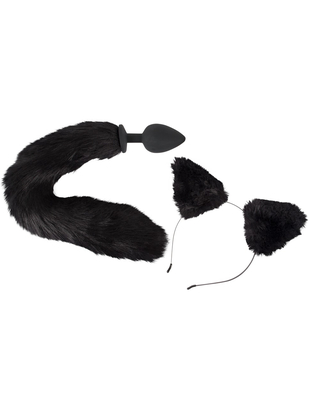 Bad Kitty Pet Play Tail Plug & Ears