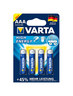 Varta AAA batteries (4 pcs)