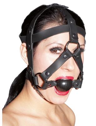 Zado siksnu maska ar mutes aizbāzni
