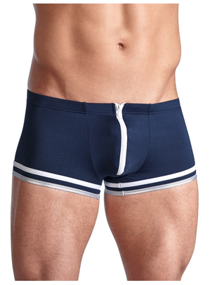 Svenjoyment blue sailors-style trunks with zipper