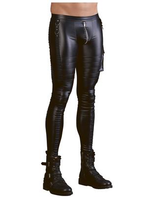 NEK черные облегающие матовые брюки