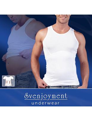 Svenjoyment balts bezpiedurkņu krekls-korsete