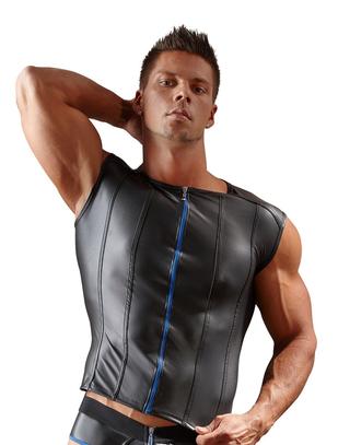 Svenjoyment melns bezpiedurkņu krekls ar rāvējslēdzēju