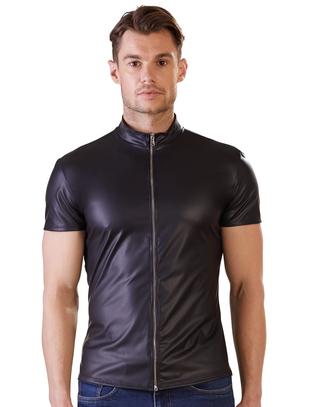 NEK black matte look shirt with zipper