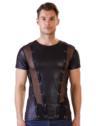 NEK black matte look T-shirt with straps