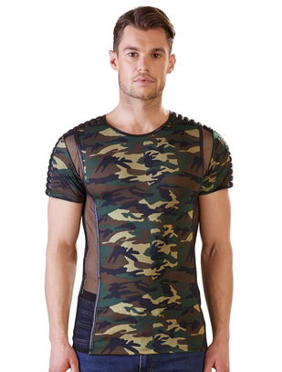 NEK camouflage T-shirt with powernet inserts