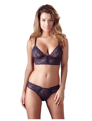 Cottelli Collection purple lace lingerie set