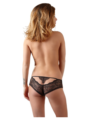 Cottelli Collection black lace panties with a decorative cut-out