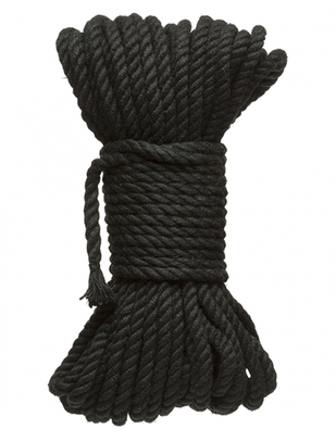 Kink Black Hemp Bondage Rope (9 / 15 m)