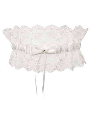 Cottelli Collection embroidered garter