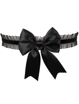 Cottelli Collection black garter with a bow