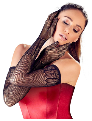 Cottelli Collection black net gloves