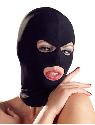 Bad Kitty black open mouth & eyes hood mask