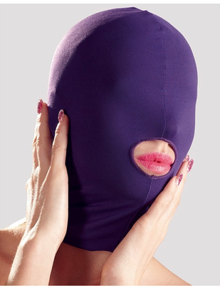 Bad Kitty purple open mouth hood mask
