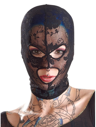 Bad Kitty black lace hood mask