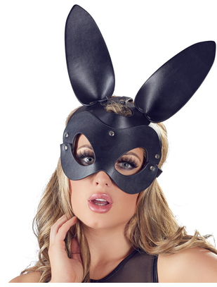 Bad Kitty black faux leather bunny mask