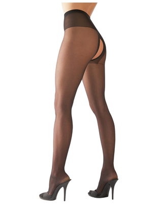 Cottelli Collection black crotchless tights