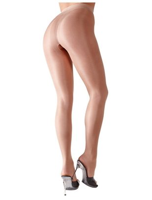 Cottelli Collection light skin tone crotchless tights