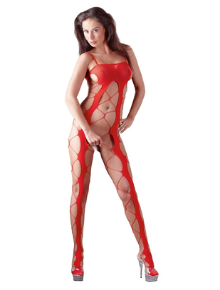 Mandy Mystery Lingerie Red Net Catsuit