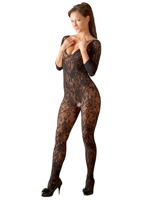 Mandy Mystery Lingerie black crotchless open back bodystocking