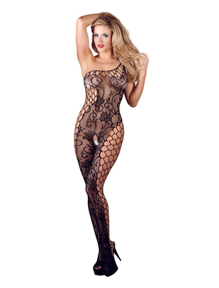 Mandy Mystery Line Crotchless Catsuit