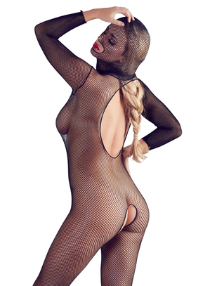 Mandy Mystery Line black net mask catsuit