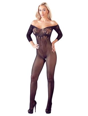 Mandy Mystery Line melns kaķenes tērps ar izgriezumu un 3/4 piedurknēm