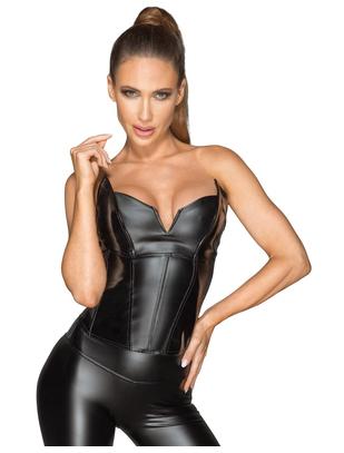 Noir Handmade black matte look/vinyl corset