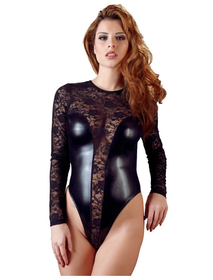 Cottelli Collection Lace Wetlook bodysuit