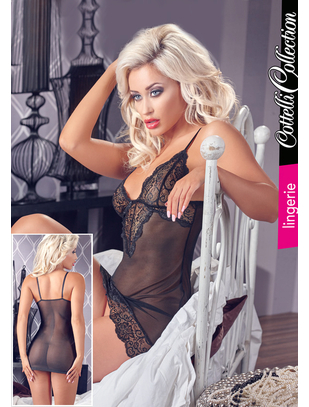 Cottelli Collection black laced chemise