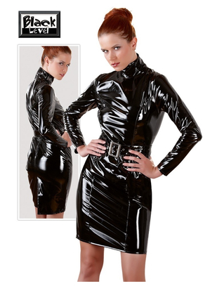 Black Level Vinyl Dress with Belt