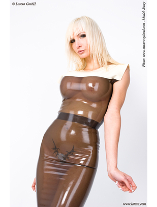 Latexa smoky grey latex dress