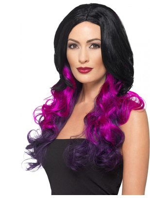 Fever Deluxe black/purple ombre wig