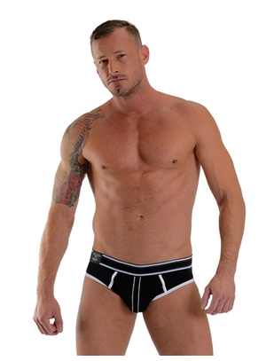 Mister B Soho black jock brief