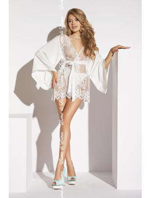 Lume di Luna Barletta white lace short peignoir