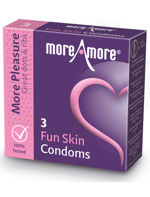 MoreAmore Fun Skin (3 / 12 vnt.)