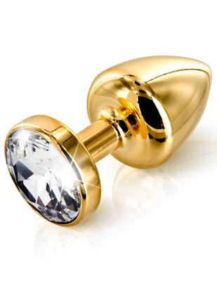 Diogol Anni Swarovski Butt plug Gold