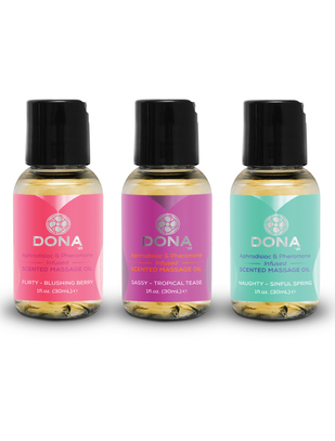 Dona scented massage oil gift set (3 x 30 ml)