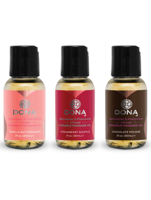 Dona kissable massage oil gift set (3 x 30 ml)