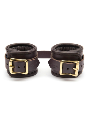 Coco de Mer Leather Wrist Cuffs S/M