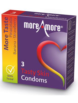 MoreAmore Tasty Skin (3 / 12 vnt.)