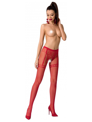 Passion crotchless patterned tights