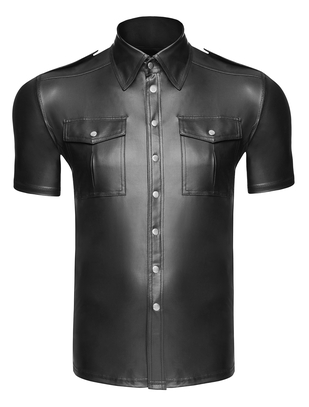 Noir Handmade black short sleeve shirt