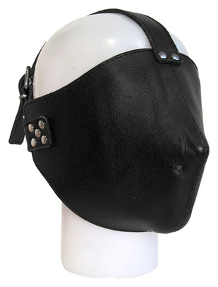 Mister B Black leather mask