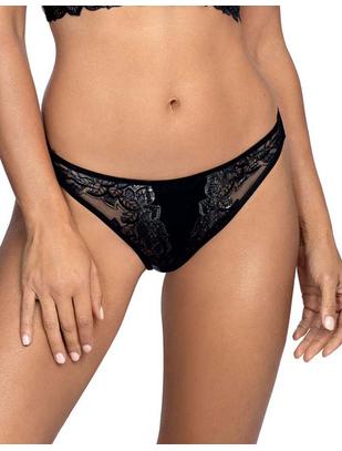 Axami Sexy Malaga Loca melni stringi ar lencītēm