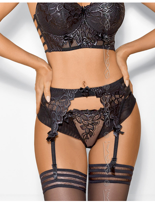 Axami Sexy Chocolate black garter belt